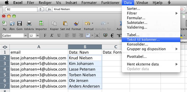 Excel-tricks til at strukturere data før import til Ubivox - billede 12