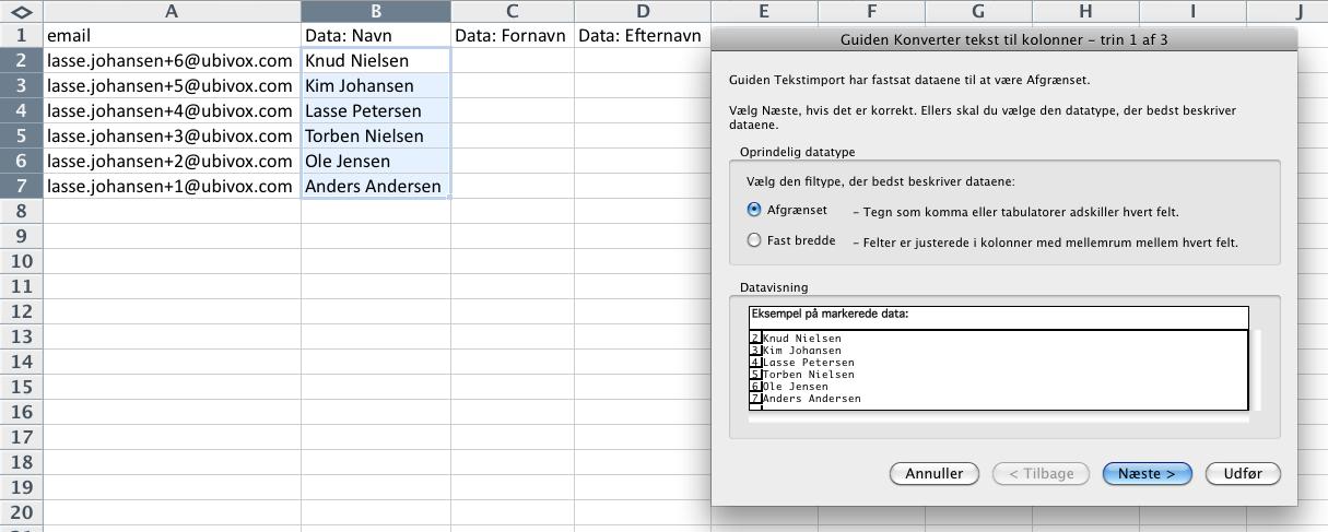 Excel-tricks til at strukturere data før import til Ubivox - billede 13