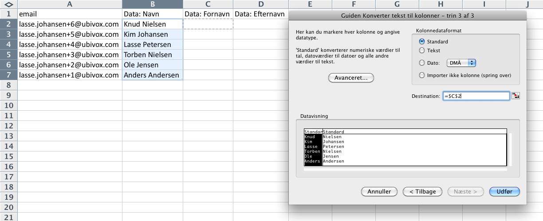 Excel-tricks til at strukturere data før import til Ubivox - billede 14