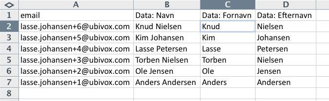 Excel-tricks til at strukturere data før import til Ubivox - billede 15