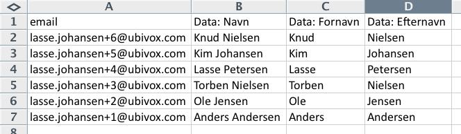 Excel-tricks til at strukturere data før import til Ubivox - billede 1