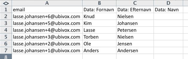 Excel-tricks til at strukturere data før import til Ubivox - billede 2
