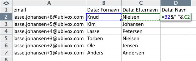 Excel-tricks til at strukturere data før import til Ubivox - billede 3