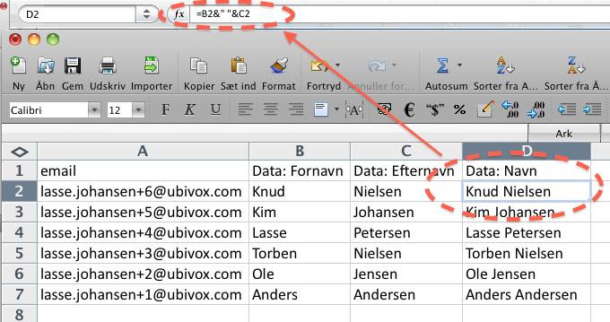 Excel-tricks til at strukturere data før import til Ubivox - billede 5