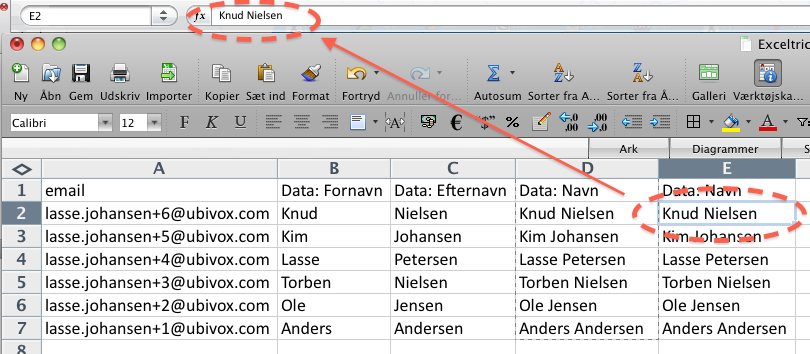 Excel-tricks til at strukturere data før import til Ubivox - billede 8