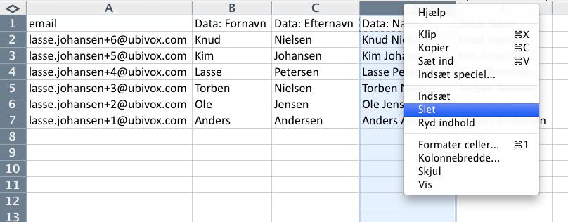 Excel-tricks til at strukturere data før import til Ubivox - billede 9