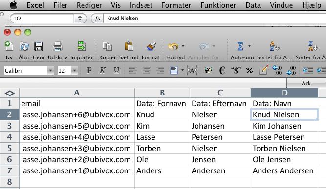 Excel-tricks til at strukturere data før import til Ubivox - billede 10
