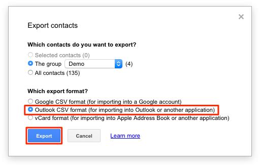 Eksporter dine kontaker fra google contacts - billede 3