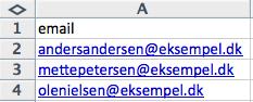Import af e-mailadresser - billede 1