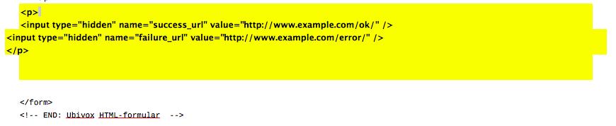 Tilmeldingsformular på website 18.1