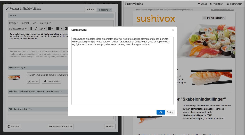 html-redigering i ubivox